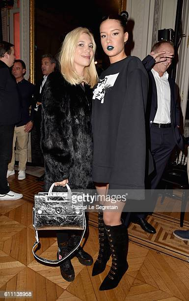 Camille Seydoux and Adele Exarchopoulos attend FENTY x PUMA by Rihanna at Hotel Salomon de Rothschild on September 28 2016 in Paris France