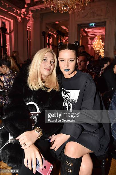 Camille Seydoux and Adèle Exarchopoulos attend FENTY x PUMA by Rihanna at Hotel Salomon de Rothschild on September 28 2016 in Paris France