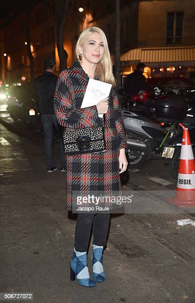 Camille Seydoux arrives at the Gianbattista Valli fashion show Paris Fashion Week Haute Coture Spring /Summer 2016 on January 25 2016 in Paris France