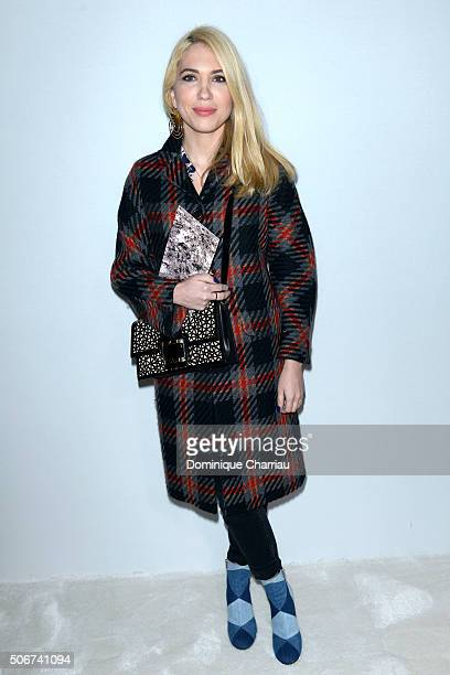 Camille Seydoux attends the Giambattista Valli Haute Couture Spring Summer 2016 show as part of Paris Fashion Week on January 25 2016 in Paris France