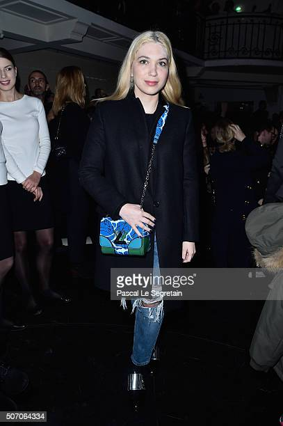 Camille Seydoux attends the Jean Paul Gaultier Spring Summer 2016 show as part of Paris Fashion Week on January 27 2016 in Paris France