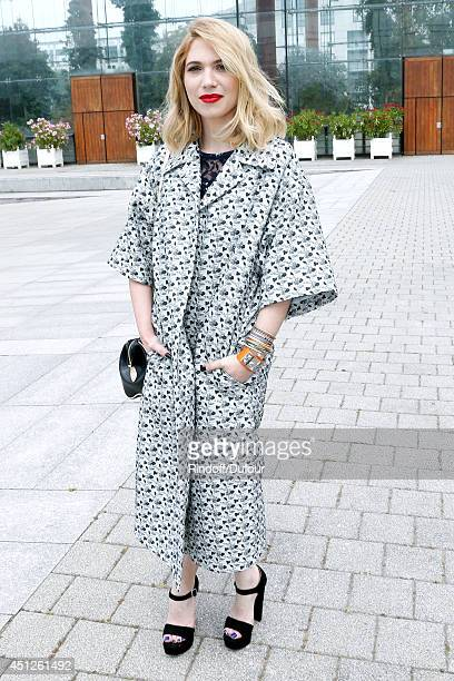 Camille Seydoux attends the Louis Vuitton show as part of the Paris Fashion Week Menswear Spring/Summer 2015 on June 26 2014 in Paris France