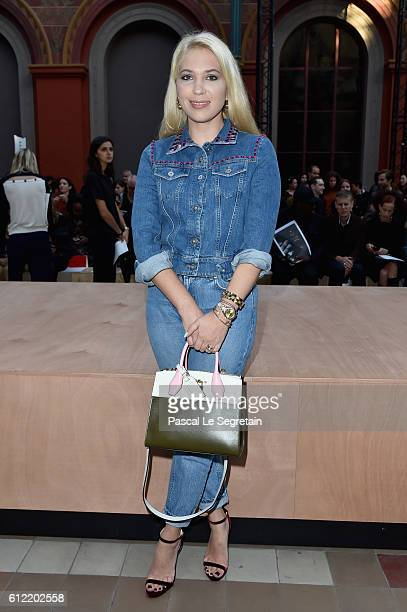 Camille Seydoux attends the Sonia Rykiel show as part of the Paris Fashion Week Womenswear Spring/Summer 2017 on October 3 2016 in Paris France