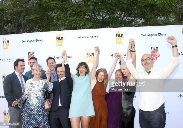 Camille Thoman Zachary Quinto Mireille Enos and the crew attend the 2017 Los Angeles Film Festival premiere of 'Never Here' held at Arclight Cinemas...