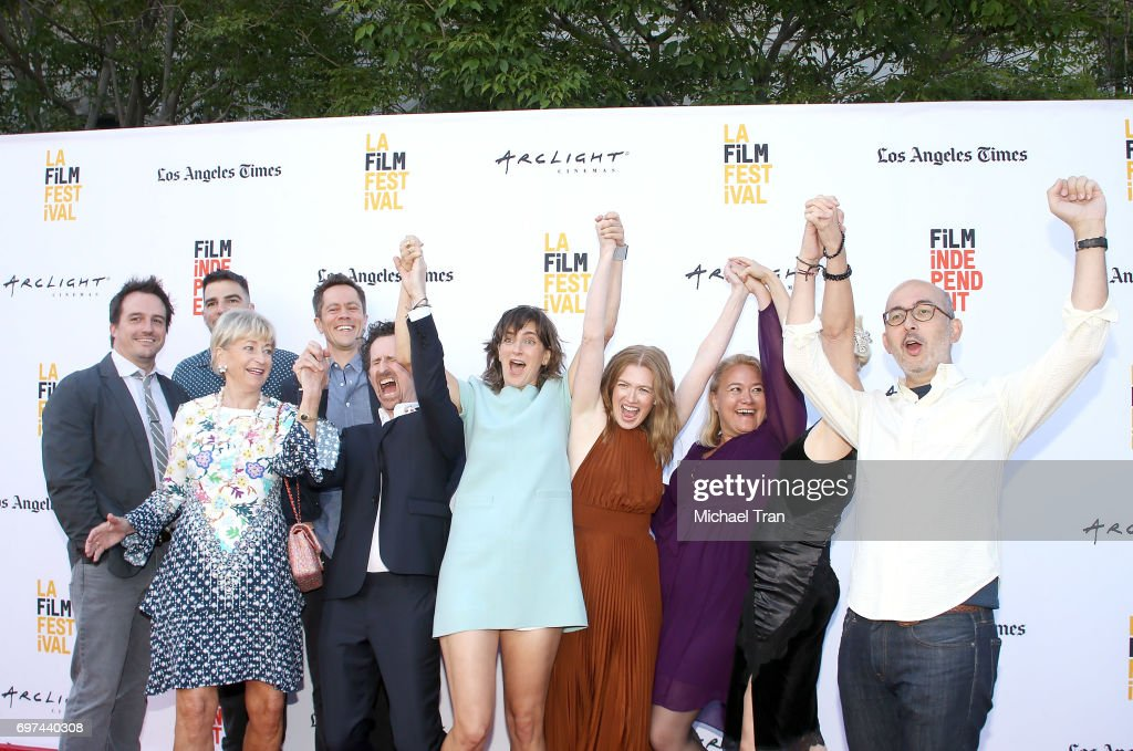 Camille Thoman, Zachary Quinto, Mireille Enos and the crew attend the 2017 Los Angeles Film Festival - premiere of 'Never Here' held at Arclight Cinemas Culver City on June 18, 2017 in Culver City, California.