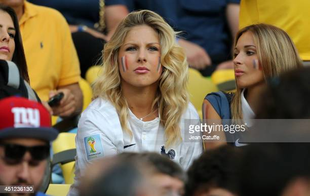 Camille Tytgat girlfriend of Raphael Varane of France attends the 2014 FIFA World Cup Brazil Group E match between Ecuador and France at Maracana on...