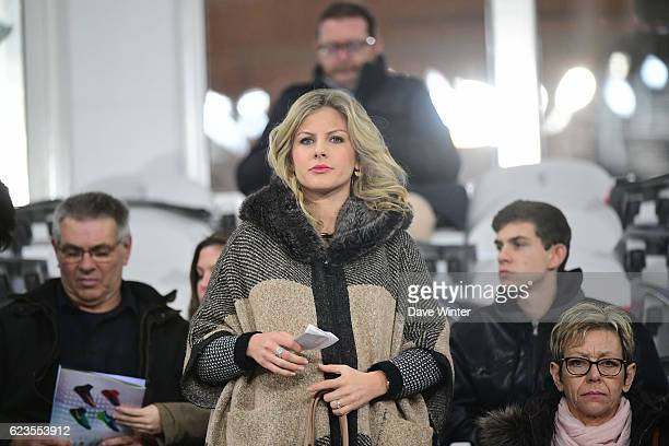 Camille Tytgat wife of Raphael Varane of France and Raphael Varian's mother during the International friendly match between France and Ivory Coast at...