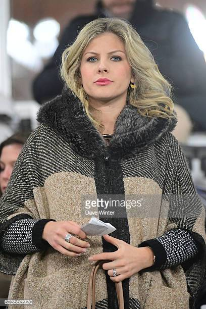 Camille Tytgat wife of Raphael Varane of France during the International friendly match between France and Ivory Coast at Stade BollaertDelelis on...