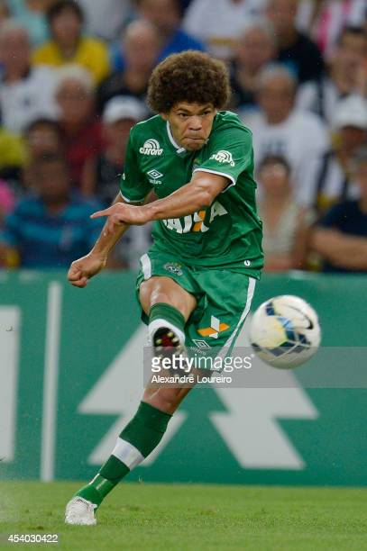 Camilo of Chapecoense in action during a match between Botafogo and Chapecoense as part of Brasileirao Series A 2014 at Maracana stadium on August 23...