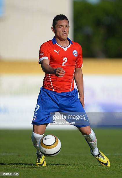 Camilo Rodriguez of Chile in action during the Toulon Tournament Group A match between Portugal and Chile at the Stade Perruc on May 23 2014 in...