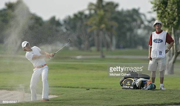 Camilo Villegas in action during the fourth round of the Ford Championship at Doral Golf Resort and Spa in Miami Florida on March 5 2006