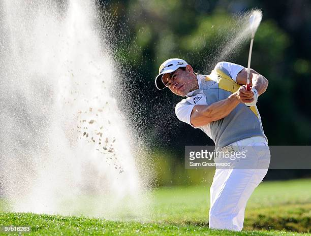 Camilo Villegas of Colombia plays a shot on the 13th hole during the final round of the Honda Classic at PGA National Resort And Spa on March 7 2010...