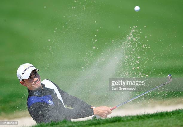 Camilo Villegas of Columbia plays a shot on the 4th hole during the second round of the Honda Classic at PGA National Resort And Spa on March 5 2010...
