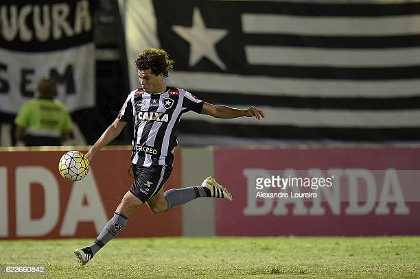 Camilo of Botafogo in action during the match between Botafogo and Chapecoense as part of Brasileirao Series A 2016 at Luso Brasileiro stadium on...