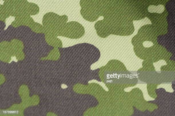 Camouflage - military uniform cloth in NATO pattern full frame
