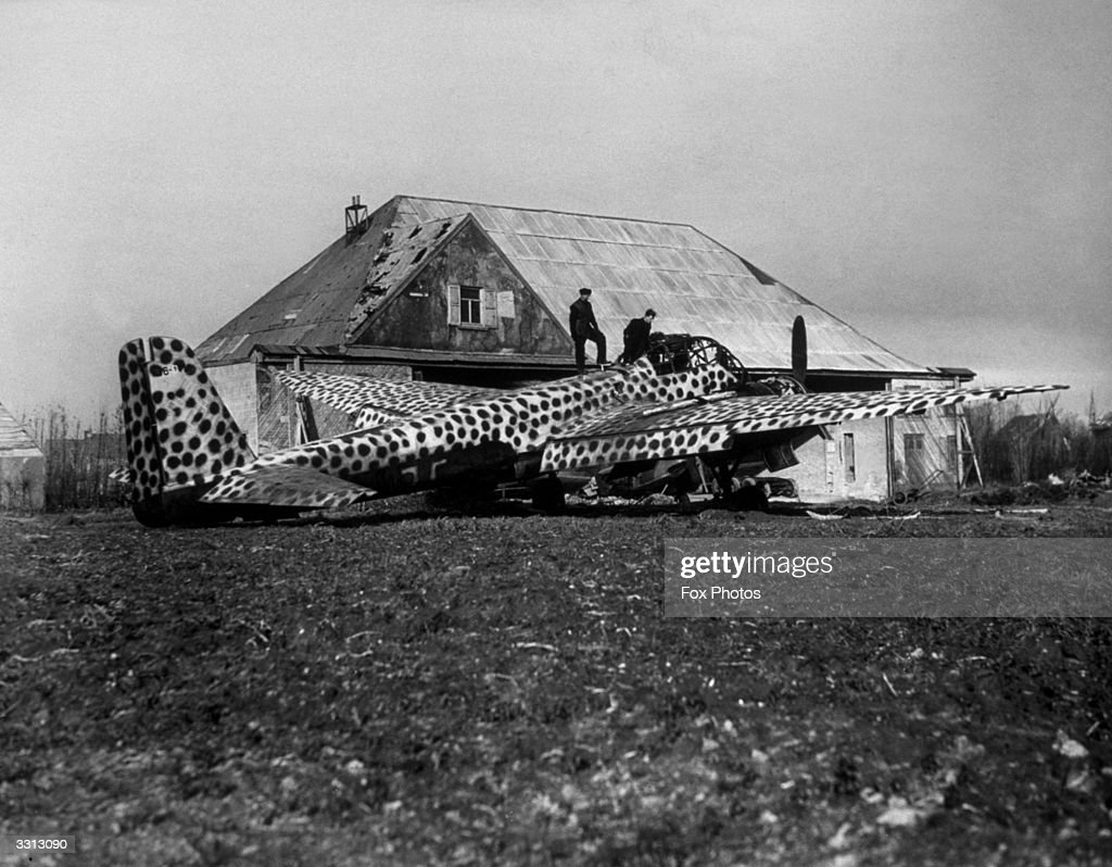 camouflaged-ju188-of-kampfgeschwader-66-at-a-german-aerodrome-in-picture-id3313090