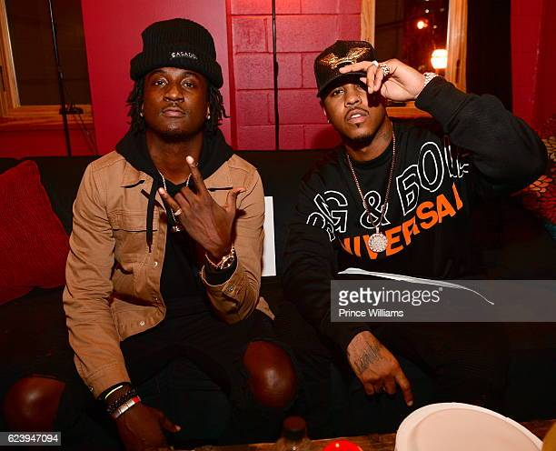Camp and Jeremih Backstage at the PartyNextDoor and Jeremih Summer's Over Tour at The Tabernacle on November 14 2016 in Atlanta Georgia