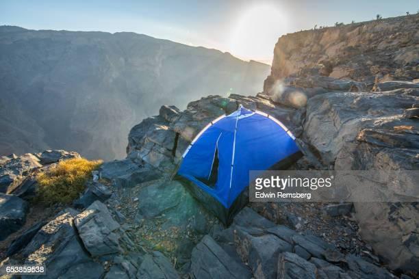 Camp at sunrise