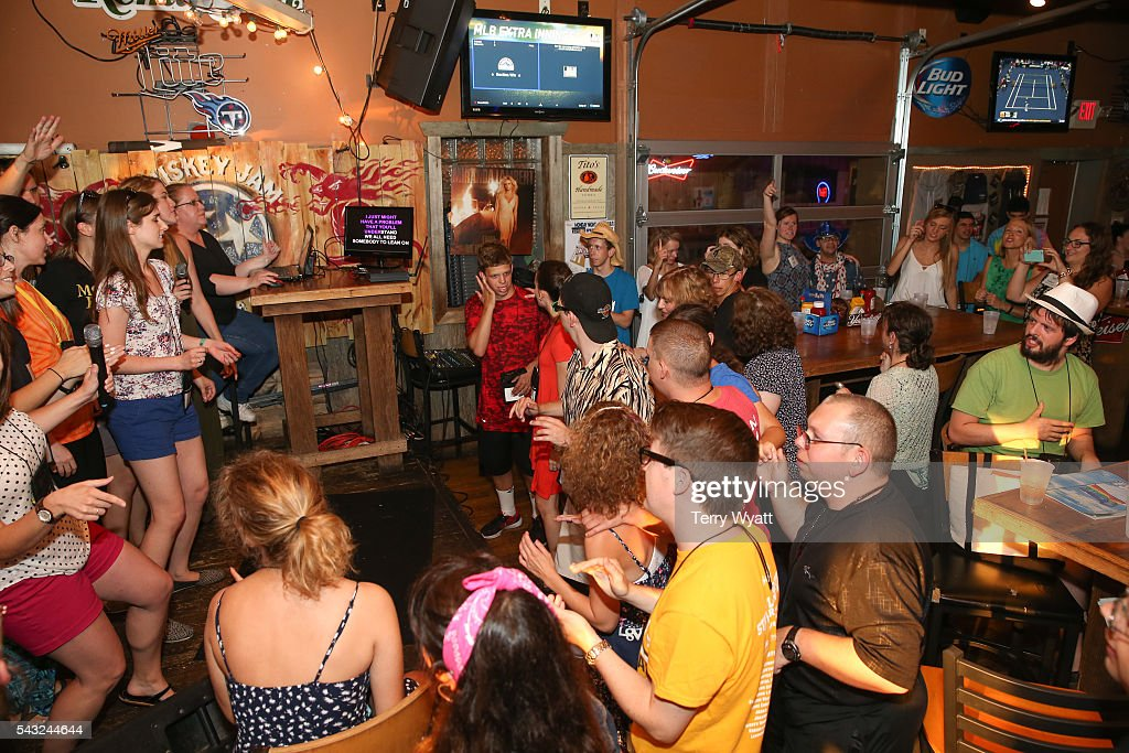 Camp Counselors and campers enjoy karaoke Night during the ACM Lifting Lives Music Camp on June 26, 2016 in Nashville, Tennessee.