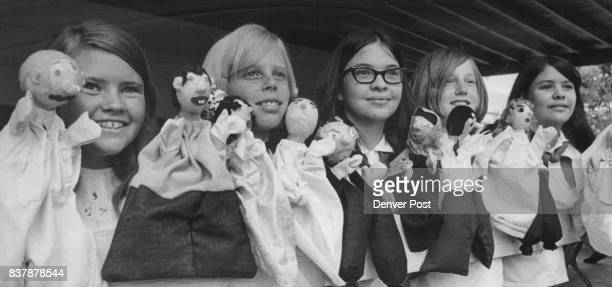 Camp Fire Girls' Puppet Shows Aid Children Members of WeMaOTa Camp Fire Girls made puppets stage props and wrote the script of 'The Unsinkable...