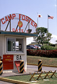 Camp Foster the US military base in Okinawa Japan April 17 1997 The presence of US military is causing gradual Americanization in Okinawa