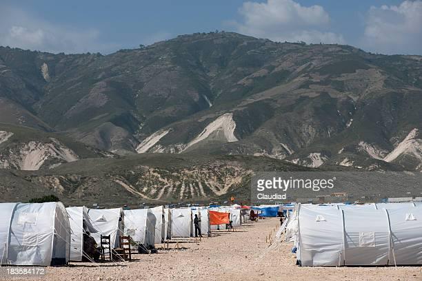 Campo de personas desplazadas internas en Haití