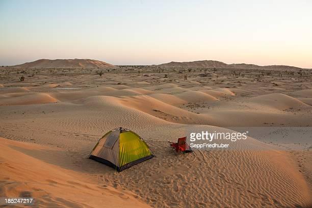 Camp in the desert