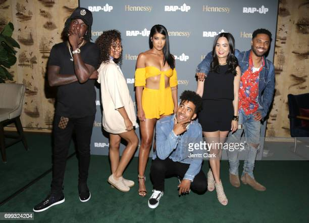 Camp Miyoko Chilombo Mila J Kyle ThuyAnh J Nguyen Hennessy West Coast Marketing Manager and Julien Edwards attend the RapUp 3rd Annual PreBET Awards...