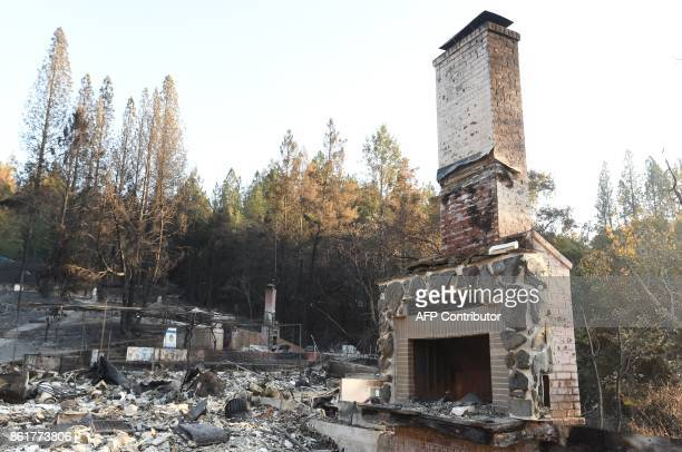Camp Newman a Jewish summer camp is seen following wildfires in Santa Rosa California on October 15 2017 The death toll from California's wildfires...