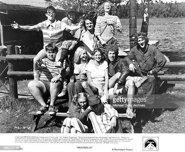 Camp North's 'in' group poses for the annual summer camp portrait Top row Jack Blum Margot Pinvidic Bill Murray Sarah Torgov Middle Row Keith Knight...