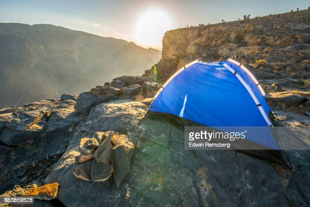 Camp on a mountain