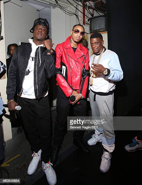 K Camp Snootie Wild and Lil Boosie attend 106 Party at BET studio on December 12 2014 in New York City