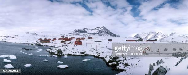 Camp sur la banquise en 1995 en Antarctique