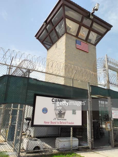 Camp VI guard tower at the US Naval Base in Guantanamo Bay Cuba on August 6 2013 AFP PHOTO/CHANTAL VALERY