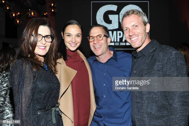 GO Campaign CoFounder Daryl Offer Actress Gal Gadot Robert Offer and Yaron Varsano attend the 2017 GO Campaign Gala at NeueHouse Los Angeles on...