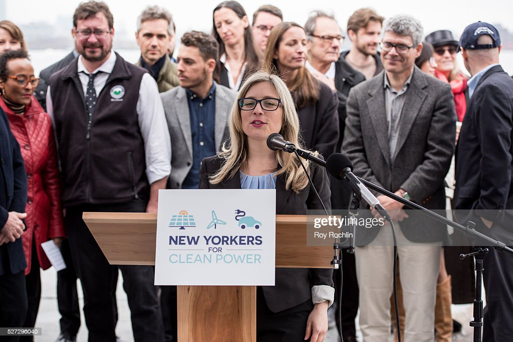 Campaign Coordinator Renee Vogelsang attends New Yorkers For Clean Power Campaign Launch at Solar 1 on May 2, 2016 in New York City.