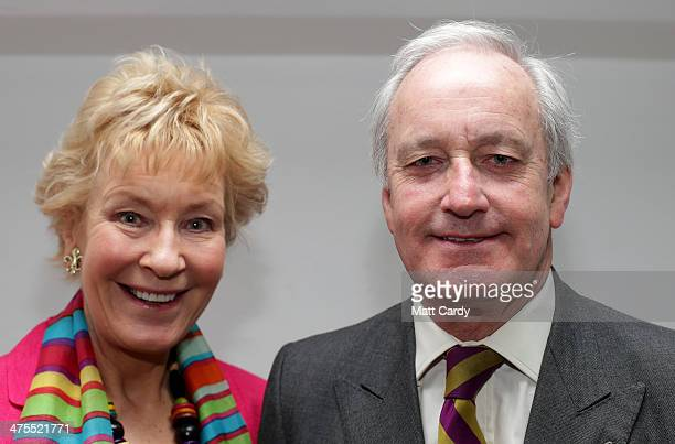 UKIP campaign director Neil Hamilton and his wife Christine pose for a photograph at the UKIP 2014 Spring Conference at the Riviera International on...