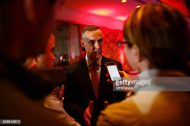 Campaign Manager for Donald Trump Corey Lewandowski speaks to media at Trump Tower in Manhattan following Trump's victory in the Indiana primary on...
