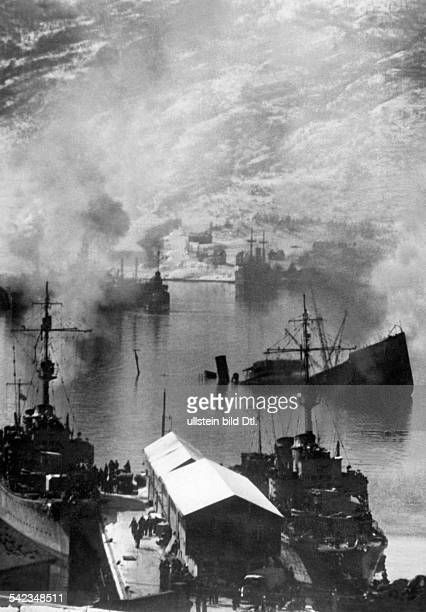 2 WW campaign of Denmark_Norway from on Norway Combat for Narvik 0904German destroyer in Narvic harbour no further information