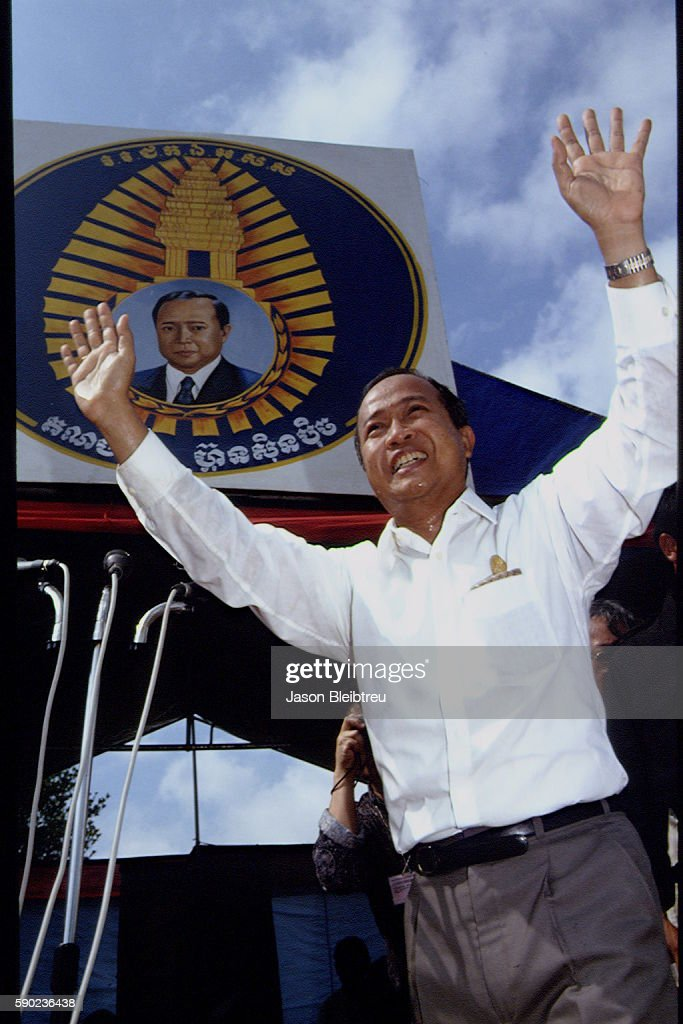 Campaign of Norodom Ranariddh the son of King Norodom Sihanouk of Cambodia