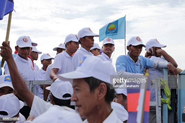 CPP campaign rally crosses paths with CNRP rally on the first day of campaigning for the commune elections