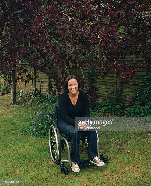 Campaigner and British sitting volleyball player Martine Wright is photographed for Knack Weekend on May 26 2015 in Tring England