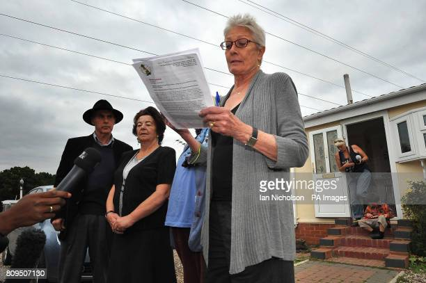 Campaigner Grattan Puxton and actress Vanessa Redgrave are joined by local resident and supporter Anne Kobayashi as they address the media during a...