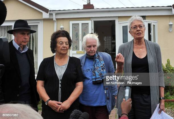 Campaigner Grattan Puxton and actress Vanessa Redgrave are joined local resident and supporter Anne Kobayashi and Pearl McCarthy as they address the...