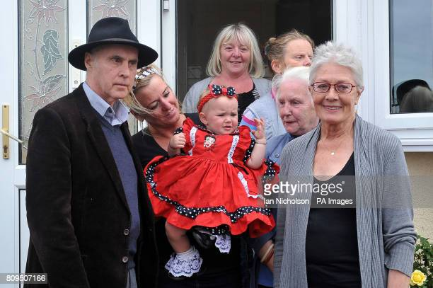 Campaigner Grattan Puxton and actress Vanessa Redgrave meet members of the McCarthy family during a visit to a travellers' site on Dale Farm near...