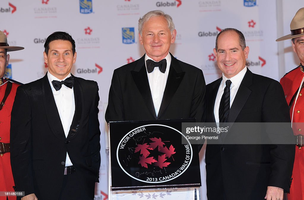 Campanelli, Victor Garber and Dan McGrath attend Canada's Walk Of Fame Ceremony at The Elgin on September 21, 2013 in Toronto, Canada.
