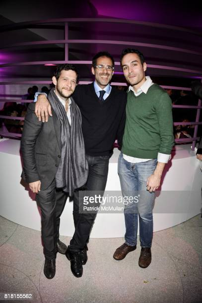 Campbell Bromberg Steve Rogenstein and Adam LaFaci attend THE HUGO BOSS PRIZE Annual Party 2010 at Solomon R Guggenheim Museum on November 4 2010