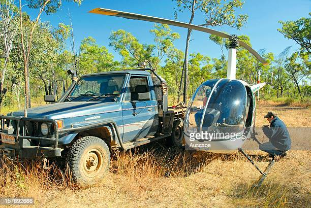 Campbell Brown Brisk Contracting helicopter mustering Wongalara Station Reserve southeast Arnhem Land Northern Territory Australia