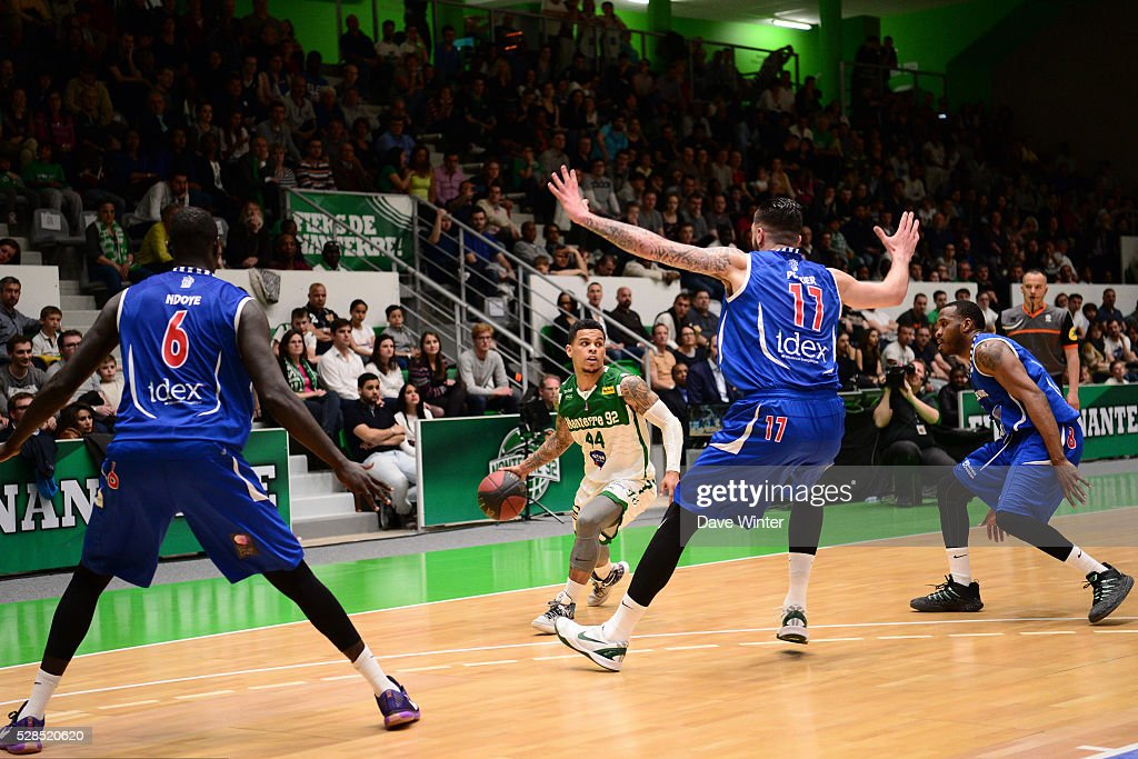 TJ Campbell of Nanterre during the basketball French Pro A League match between Nanterre and Paris Levallois on May 5, 2016 in Nanterre, France.