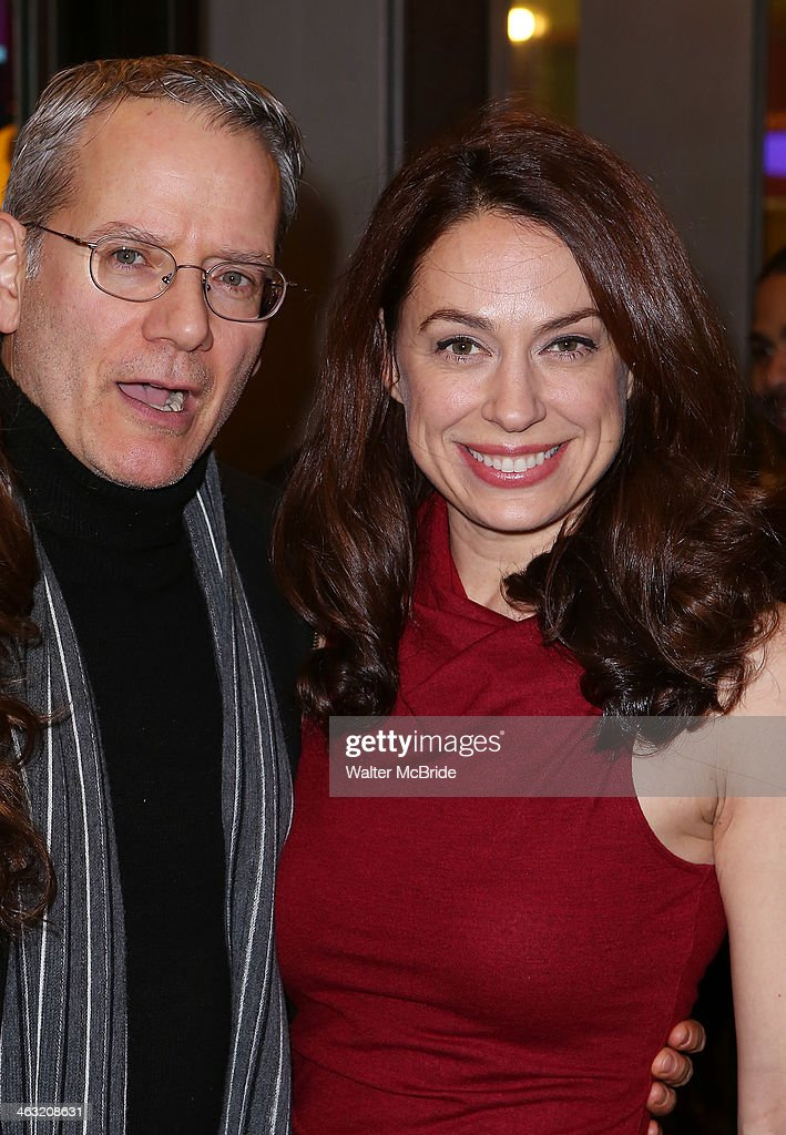 <a gi-track='captionPersonalityLinkClicked' href=/galleries/search?phrase=Campbell+Scott&family=editorial&specificpeople=213575 ng-click='$event.stopPropagation()'>Campbell Scott</a> and Kathleen McElfresh attend the Broadway opening night of 'Machinal' at American Airlines Theatre on January 16, 2014 in New York, New York.